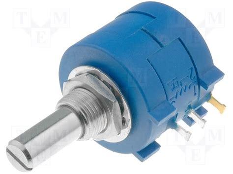 multiturn resistor ליאון אלקטרוניקה resistor potentiometer 10k multi turn