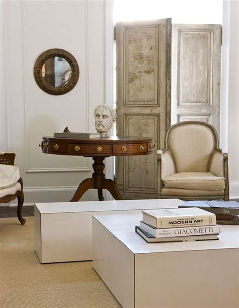 modern mix antiques modern furniture in darryl carter s habitually chic 174 neutral territory