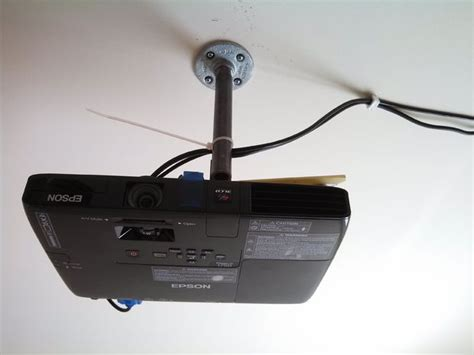 on the ceiling projector diy low cost porjector ceiling mount all