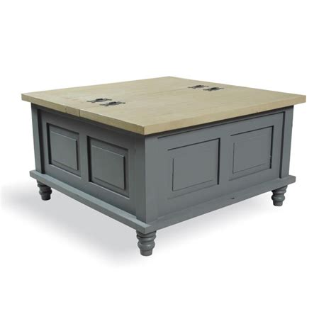 grey square coffee table inadam furniture square coffee table storage trunk