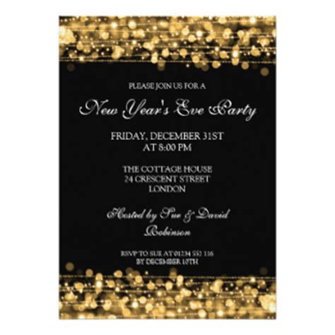 new year dinner invitation card new years invitations announcements zazzle