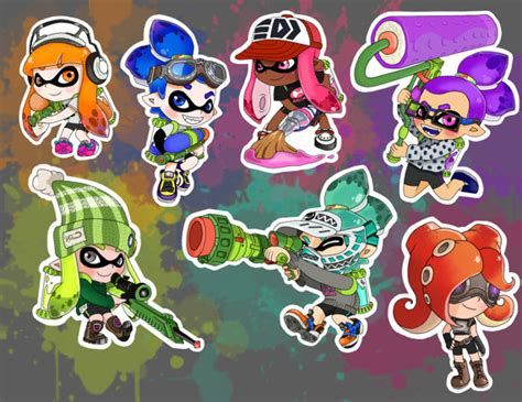 splatoon vol 1 vol 1 splatoon character stickers by geekymelon on etsy