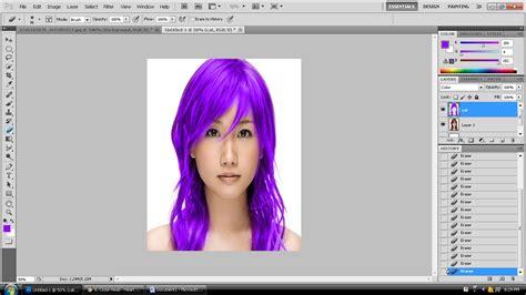 Cat Rambut Ps lu merah tutorial mengubah warna rambut di photoshop
