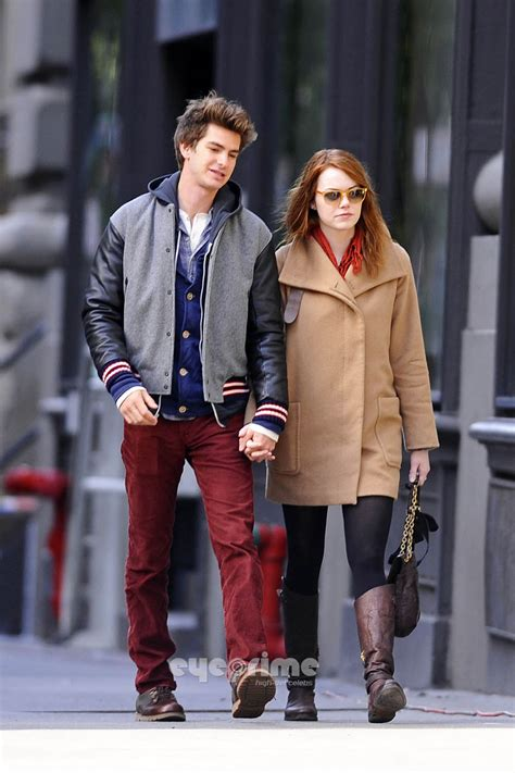 emma stone andrew garfield a e in ny andrew garfield and emma stone photo 28296511