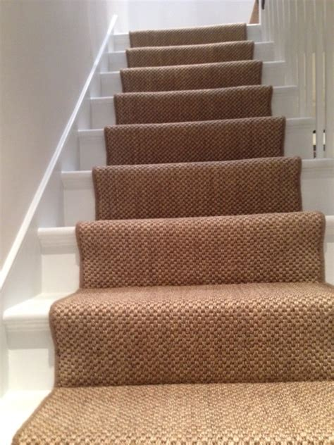 Sisal Teppich Treppe stairs landing the flooring