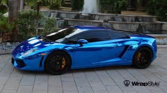 Lamborghini Gallardo Wrap Lamborghini Gallardo Wrap Vinyl Chrome Blue Wallpaper