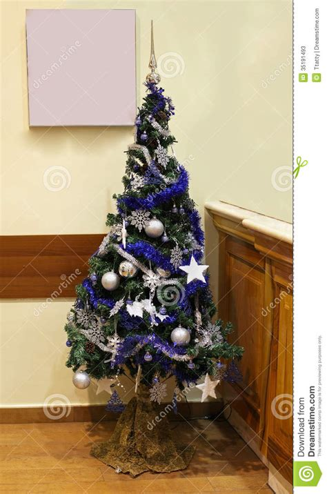 blue christmas tree stock photos image 35191493