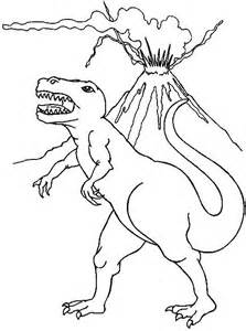 Coloriage Dinosaure Volcan 1001 Animaux
