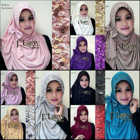 Termurah Jilbab Syria Pet 3 jilbab syria pet pitaloka pita payet by flow idea terbaru harga rp 65 000 pc harga rp 55 000