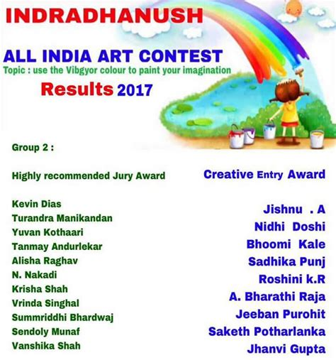 competition india 2014 results indradhanush all india contest results 2017