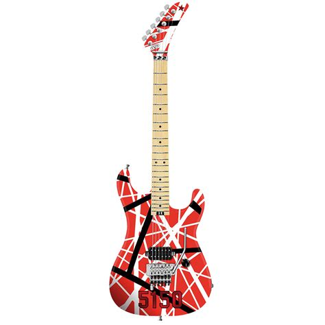 evh striped series 5150 r b w 171 electric guitar