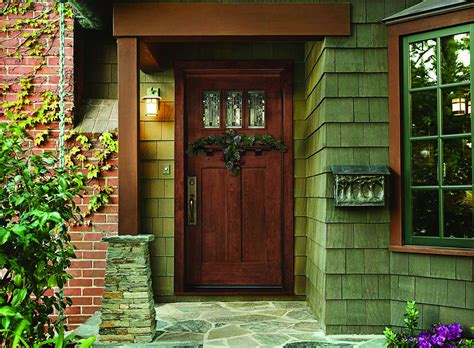 Exterior Front Door Designs Vintage Front Door Design With Blue Color Combine Rectangular Panel Incorporates Rounded Knob