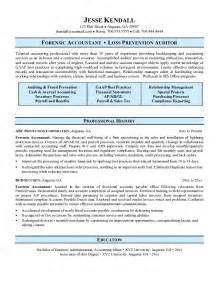 free forensic accountant resume exle