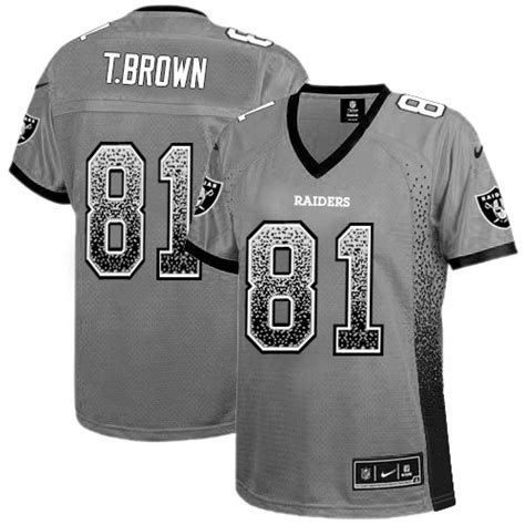 youth black tim brown 81 jersey p 686 elite nike s tim brown grey jersey 81 nfl oakland