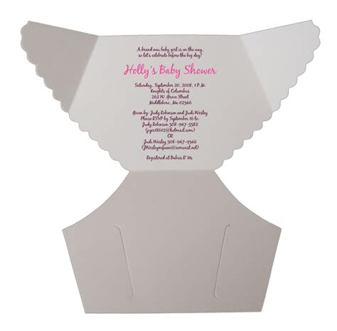 free baby diaper invitation template damask pink baby