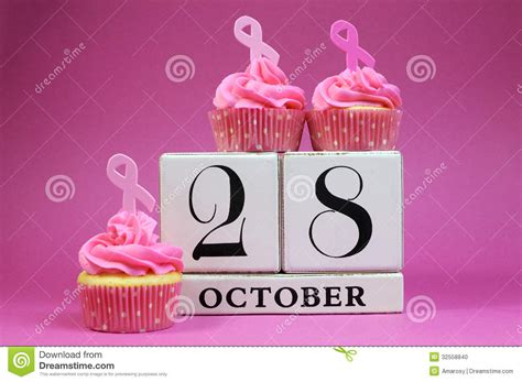 Save The Date For Pink Ribbon Day Stock Photo - Image ... Free Clipart Cupcakes