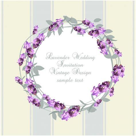 Wedding Invitation Design Ai by Lavender Wedding Invitation Design Vector Free