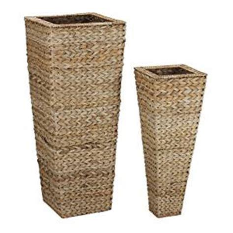 Wicker Floor Vase by Household Essentials Decorative Wicker Tapered