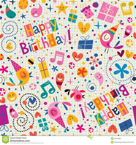 pattern birthday cute happy birthday pattern stock vector image of celebration