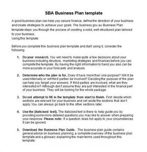 Word Document Business Plan Template Sample Sba Business Plan Template 9 Free Documents In