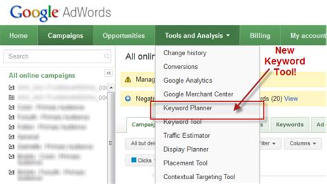 google es keywordsfind com how to use the keyword planner the new keyword tool from