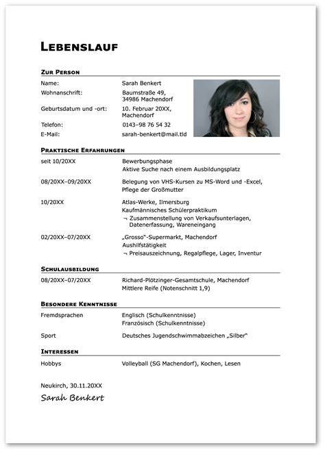 Lebenslauf Muster Ausbildung Bewerbung Lebenslauf Ausbildung10680png Darf Muster Inklusive Deckblatt Bewerbungsschreiben