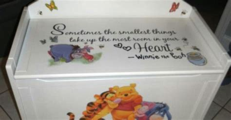 winnie the pooh toy box bench pooh toy box winnie the pooh nursery pinterest toy