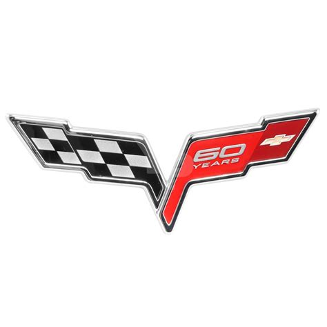 corvette emblems by year 2005 2013 corvette c6 oem quot 60 years quot 60th anniversary