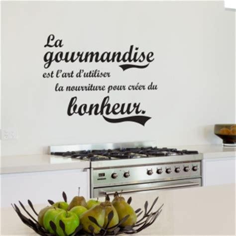 cuisine du bonheur fr stickers original citation sur gourmandise et bonheur pour