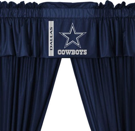 drapes dallas nfl dallas cowboys football 5 piece valance curtains set
