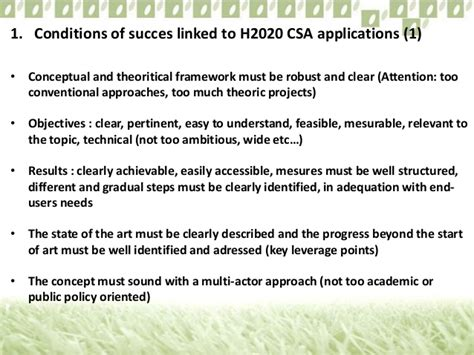 Letter Of Intent H2020 H2020 Criterios De Evaluaci 243 N Y Consejos Pr 225 Cticos Para La Elaboraci