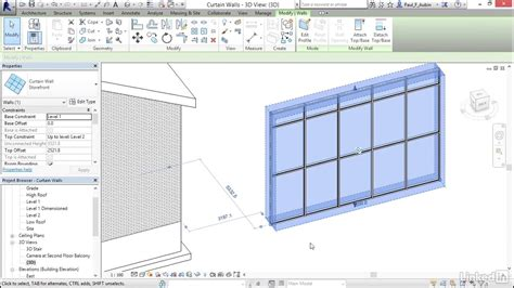 revit tutorial grid revit 2017 curtain wall tutorial memsaheb net