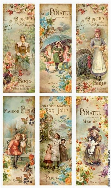 Printable Victorian Bookmarks | pin by sandy steele on free vintage printables and some
