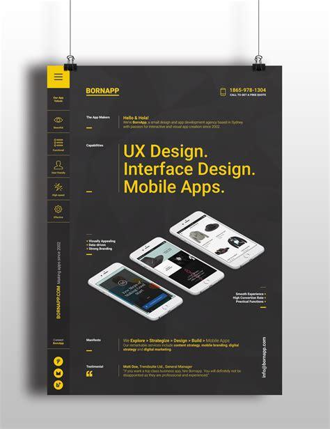 design poster app mobile app poster templates on behance