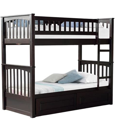 futon decke buy mcleo bunk bed with storage in cappuccino finish by