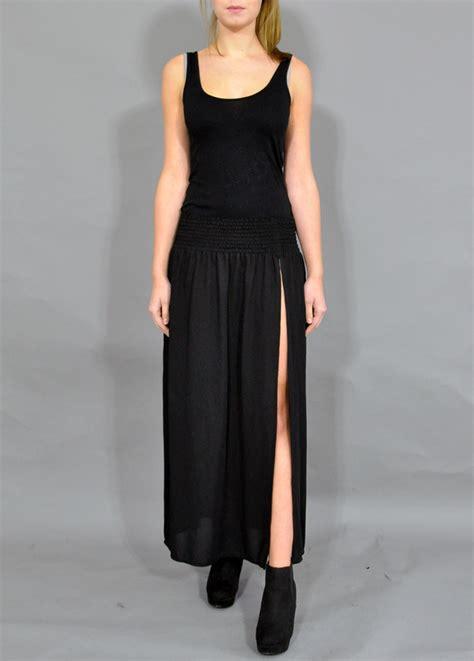 black maxi slit skirt vintage sheer maxi skirt vintage