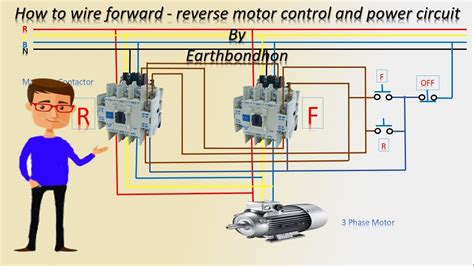 wire  reverse motor control  phase motor earthbondhon youtube