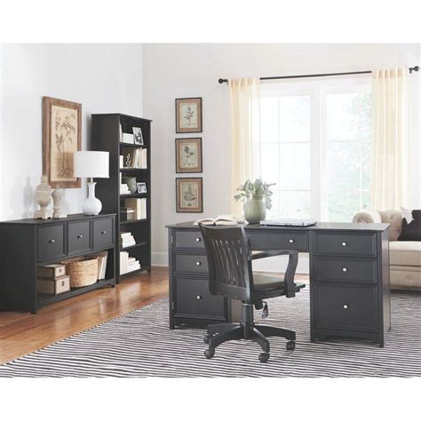 home decorator home depot home decorators collection oxford black desk 0151200210 the home depot