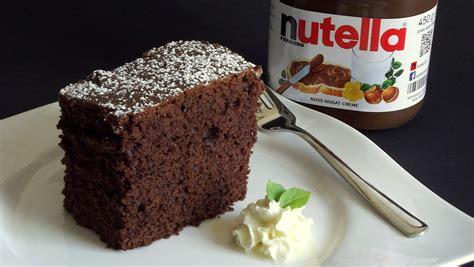 nutella schoko kuchen nutella kuchen selber machen