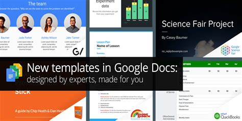 google docs sheets slides get new templates on web