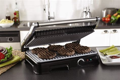 Indoor Kitchen Grill by Large Grilling Surface Accommodates Meals For The
