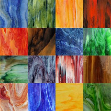 colored glass sheets stained glass 6 inch sheet