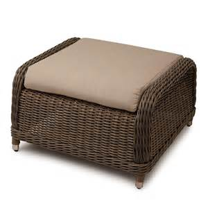 Alcee Resin Wicker Outdoor Ottoman Outdoor