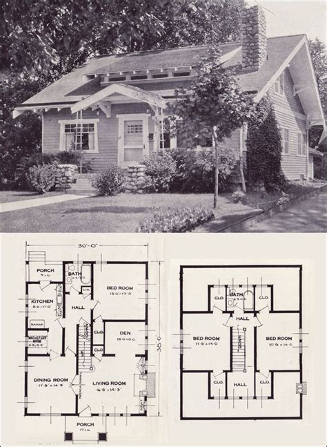 1920 Bungalow House Plans by The Gladstone 1923 Standard Homes Company House Plans