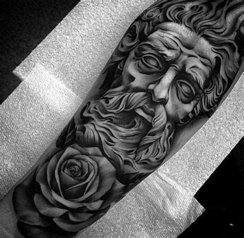 god tattoo design guys god flower forearm sleeve tattoos