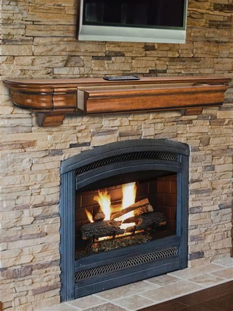 A Fireplace Mantel Shelf by Pearl Mantels 415 Abingdon Wooden Mantel Shelf