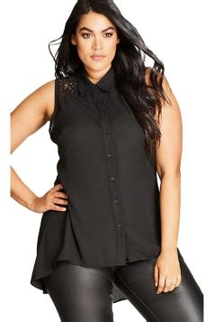 Blouse Atasan Tunik Import Black Casual Lace Size M 192241 plus size tops for and juniors