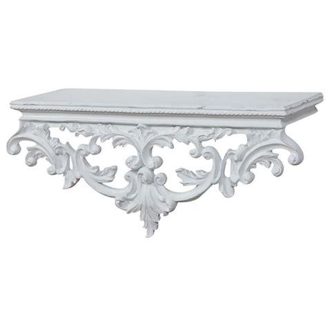 mensole shabby chic antica soffitta mensola barocco 46cm shabby chic bianco