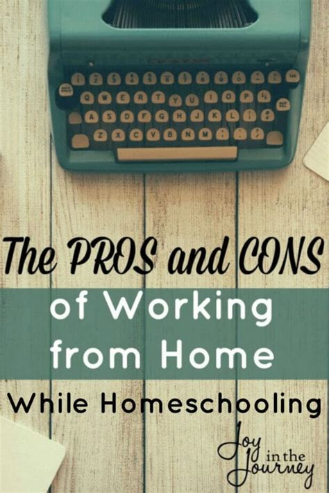 the pros and cons of working from home and homeschooling