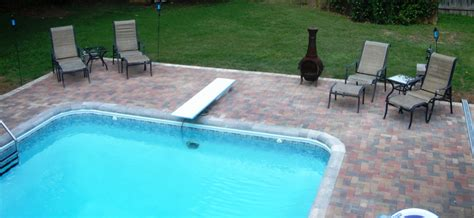 pool patio pavers pool decks and patios archadeck of central ga